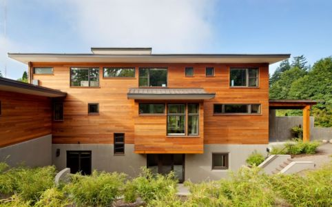 façade nord - Skyline Residence par Nathan Good Architects - Portland, Usa