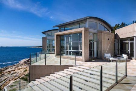 façade océan - Nova Scotia House par Alexander Gorlin Architects - Ketch Harbour, Nouvelle-Écosse, Canada
