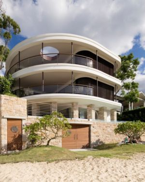 façade océan - Waterfront House par Luigi Rosselli Architects - Sydney, Australie