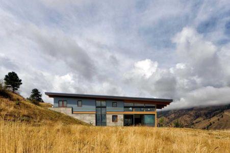façade ouest - Nahahum Canyon House par Balance Associates - Nahahum Canyon, Usa