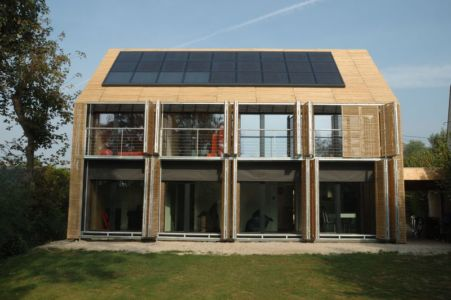 façade ouverte - Witzmann résidence par Karawitz Architecture - France - Photo Nicholas Calcott