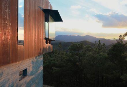 façade ouverture vitrée - Hyunam-house par IROJE Architects & Planners - Gunwi-gun, Corée du Sud