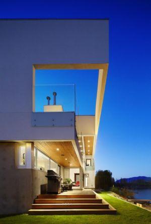 façade panorama - Elenko Residence par CEI Architecture - Osoyoos, Canada
