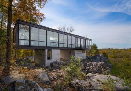 façade panorama - hawks nest par wiedemann architects - Usa