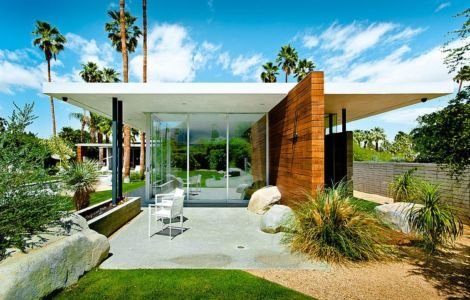 façade petite terrasse - F-5 Residence par Studio AR+D Architects - Indian Wells, Usa