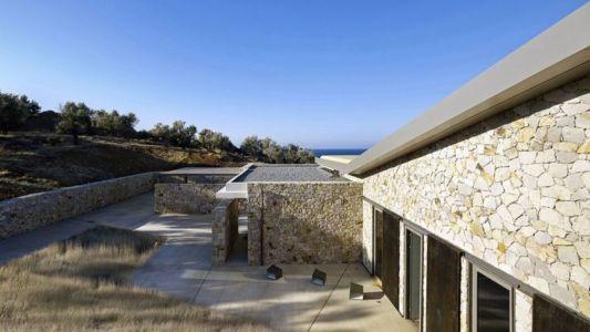 façade pierres - résidence exclusive par Z-Level - île Kios, Grèce