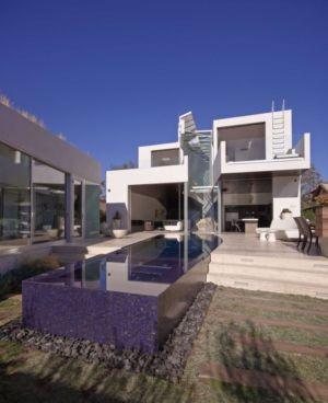façade piscine - Birch Residence par Griffin Enright Architects - Los Angeles, Usa
