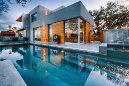 façade piscine - City View Residence par Dick Clark Architecture - Austin, Usa