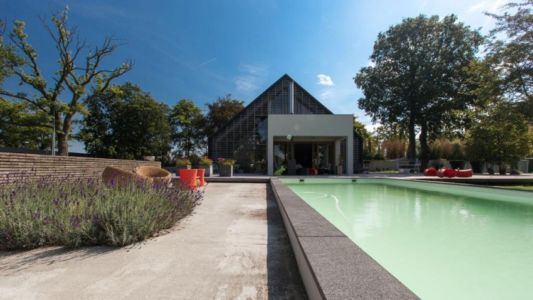 façade piscine - Donderen Barnhouse par aatvos - Donderen, Pays-Bas