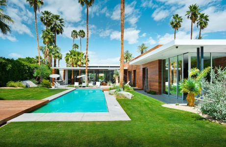 façade piscine - F-5 Residence par Studio AR+D Architects - Indian Wells, Usa