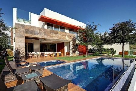 façade piscine - House-S par Lassala Elenes Arquitectos - Zapopan, Mexique