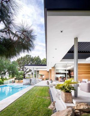 façade piscine - Malibu Crest par Studio Bracket - Malibu, Usa