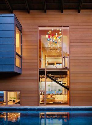 façade piscine - The Hog Pen Creek Residence par LakeFlato - Austin, Usa