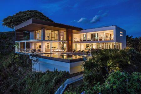 façade piscine de nuit - Kalia's EOS- location - Costa Rica