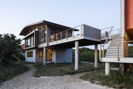 façade plage - House of Shifting Sands par Ruhl Walker Architects - Wellfleet, Usa