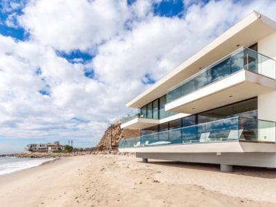 façade plage - villa contemporaine à Malibu, Usa