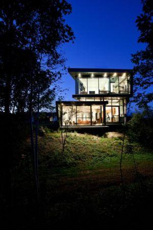 façade porte à faux - Port Hope House par Teeple Architects - Ontario, Canada