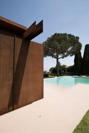 façade poutre en acier & terrasse - Sicillian-Farm-Renovation par ACA Amore Campione Architettura - Sicile, Italie