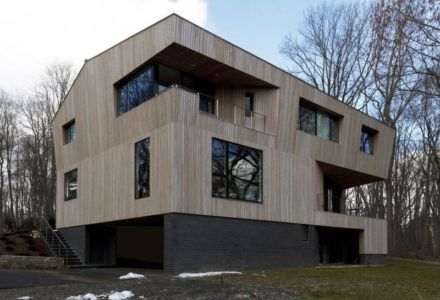 façade principale - DR_RESIDENCE par SU1 Architects + Design - Connecticut, USA