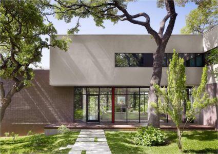 façade principale - Hills-Residence par Specht Harpman - Texas, USA