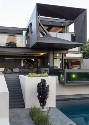 façade principale - Kloof-Road-House par Nico van der Meulen Architects - Johannesburg, Afrique du Sud
