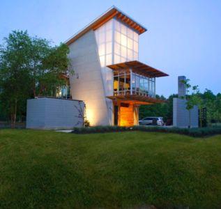 façade principale - Pond-House par Holly-Smith-&-Architectes - Louisiane, USA