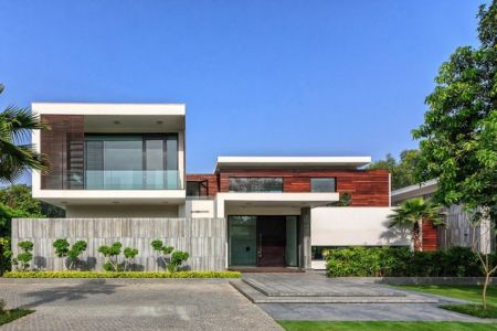 façade principale - Three Trees House par DADA & Partners - New Delhi, Inde