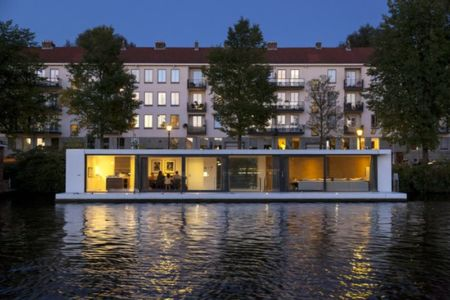 façade principale - Watervilla par +31ARCHITECTS - Amsterdam, Pays-Bas