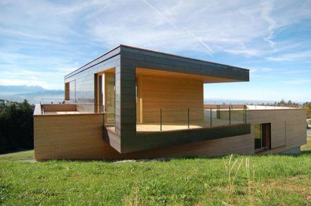 façade principale étage - house-dornbirn par KM Architektur en Suisse