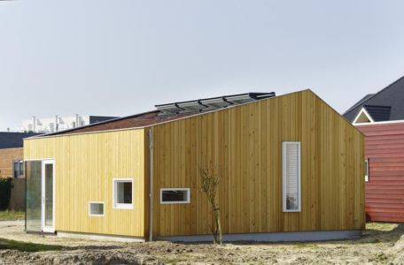 façade principale bois - Biobased-Living-Concept par DDacha - Pays-Bas