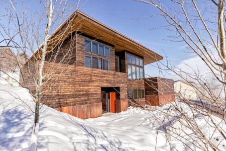 façade principale bois - wood-clad-home par ParkCity Design - Utah, USA