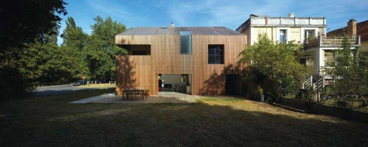 façade principale - maison bois contemporaine par Avenier Cornejo - Orsay, France