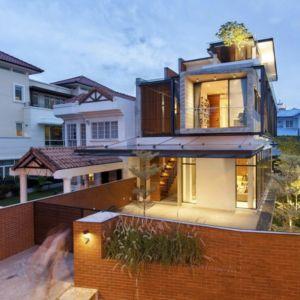 façade principale - maison exclusive par Aamer Architects - Singapour