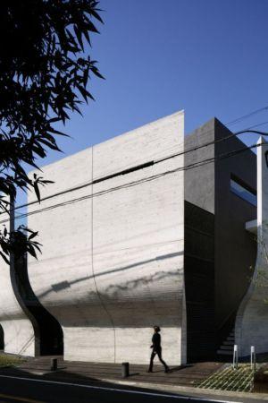 façade principale - maison-urbaine par Artechnic - Japon