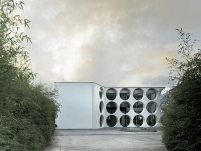 façade principale - o-house par Philippe Stuebi - Lucerne, Suisse