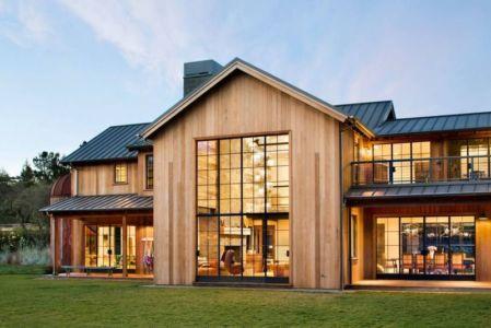 façade principale  & grande baie vitrée - Triple-L-House par SDG Architecture - San Francisco, USA