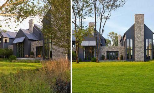 façade principale & jardin - maison bois contemporaine par Architect - Nashville, USA