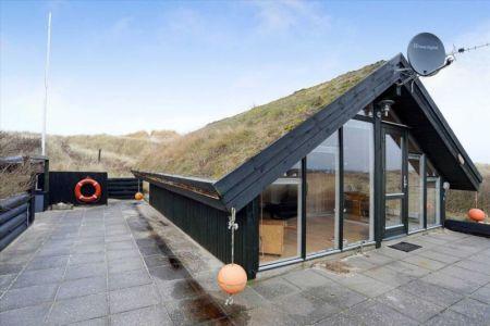 façade principale & toiture végétalisée - Tiny-house par Tiny Sod Roofed - Côtes Nord, Danemark