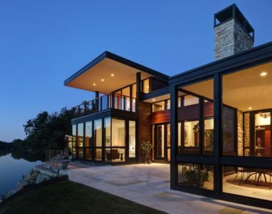 façade rivière - Rock River House par Bruns Architecture - Rockton, Usa