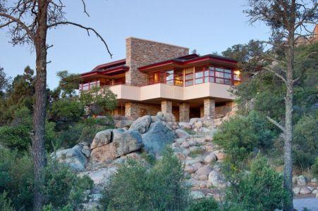 façade rocailles - Hinshaw par Michael Rust – Architect LLC - Prescott, Usa