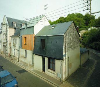 façade rue - Agrandissement surévélavation par atelier 100 architecture - Tours, France