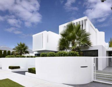 façade rue - Bayside townhouses par Martin Friedrich architects - Melbourne, Australie