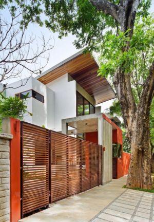 façade rue - Bhuwalka House par Khosla Associates - Bangalore, Inde