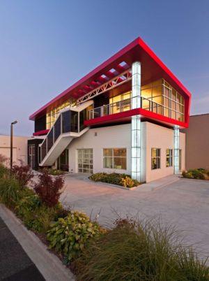 façade rue  - Flute house par The Think Shop Architects - Royal Oak , Usa