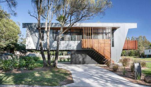 façade rue - Northern Rivers Beach House par Refresh Architecture - South Golden Beach, Australie