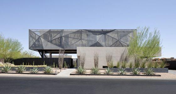 façade rue - Tresarca House par assemblageSTUDIO - Las Vegas, Nevada, Usa