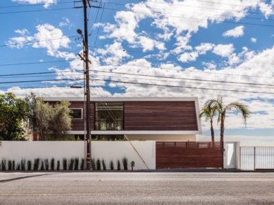 façade rue - villa contemporaine à Malibu, Usa