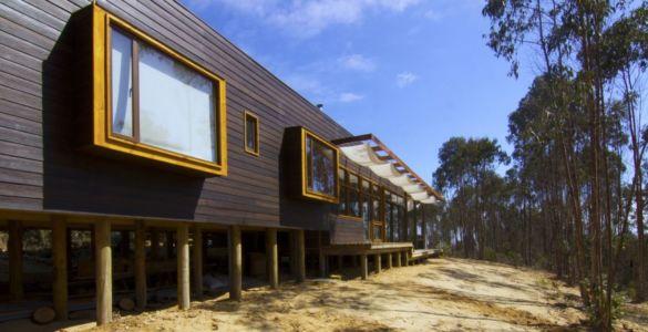 façade sud - Casa Tunquén par CO2 Arquitectos - Vaparaiso, Chili