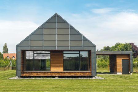 façade sud - La Casa de Libre Mantenimiento par Arkitema Architects  - Danemark