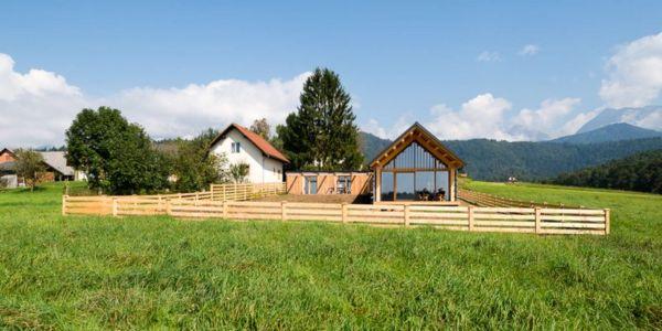 façade sud - Maison bois par BIRO GASPERIC - Velesovo, Slovenia